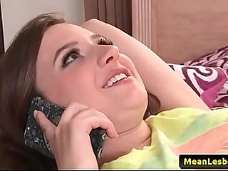 Hot and Mean Lesbians - My Stepdaughter's Titties with Elektra Rose & India Summer 02