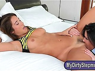 Stepmom India Summer unsightly triune scene in the bedroom