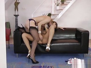 Heels indian lez licking